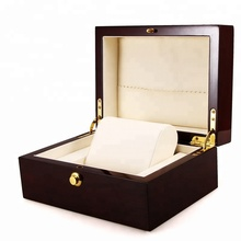 Custom Accepted Handmade Single Watch Brown Display Case Recyclable Luxury Wooden Watch Box