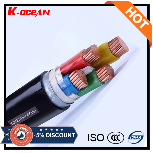 Underground 0.6/1kV 120mm 150mm 185mm 240mm XLPE 4 Core Armoured Power Cable Price