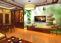 custom stone bamboo Chinese style wallpaper kitchen hotel restaurant wallpaper dealers