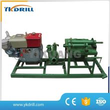 yikuang China 80-150m portable small deep water well drilling rig driven by gas oil