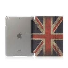 New arrival Union Jack image whole cover for ipad air 2 PU leather printing case