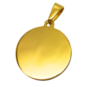Olivia 18k Real Gold Custom Engraved Blank Disc Pendant
