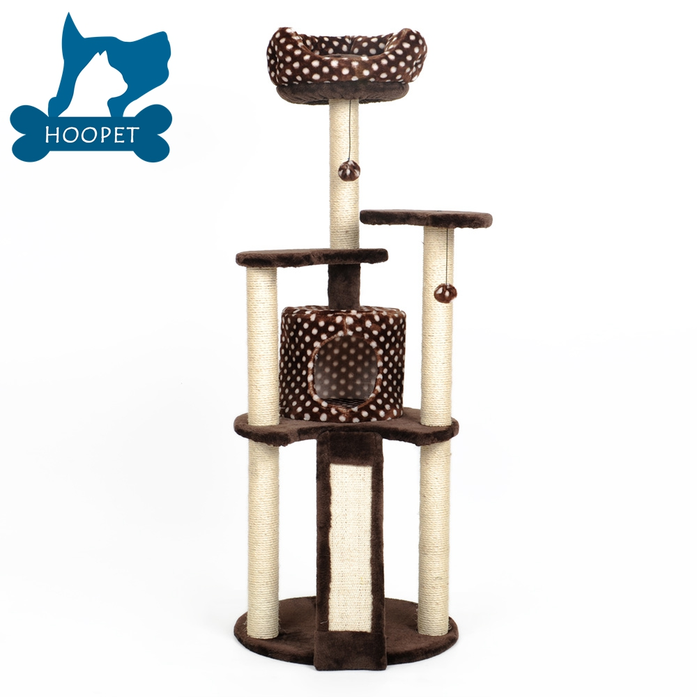 PET PALACE Cat Tree Kitten Activity Tower Condo with Perches Deluxe Scratching Posts Rope and Mouse