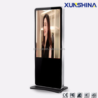 "wifi 3G network lcd advertising player 65"" android floor standing digital signage"