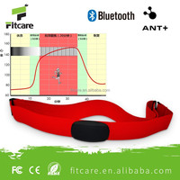 Fitcare OEM/ODM high accuracy wireless ANT+ bluetooth heart rate belt for iphone &android