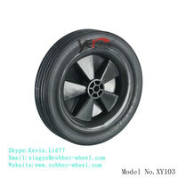 7 Inch rubber wheel for lawn mower