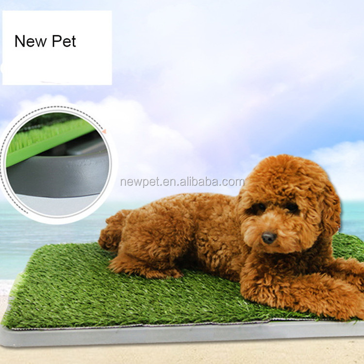 Good reputation new design artificial mat dog training toilet pet toilet with grass for dog