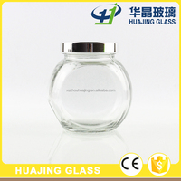 350ml drum shape glass candy jar