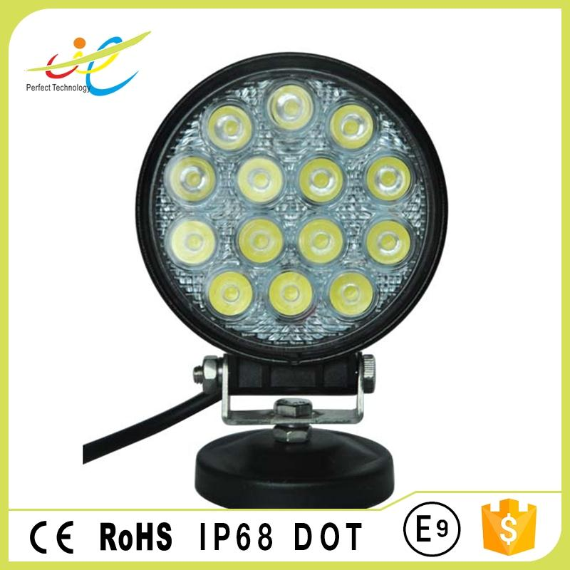 ROUND 42W 4inch flood/spot led working light DOT approved led head lamp for car driving military