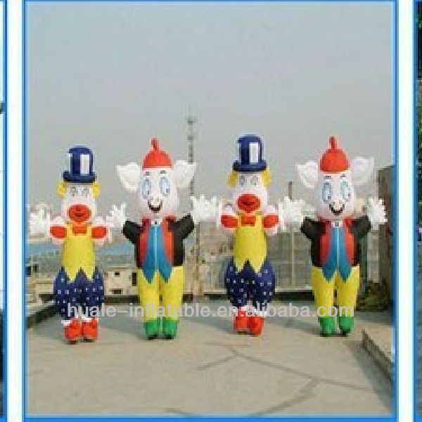 Customized multi colors Inflatable Moving Cartoon inflatable Mascot for sale