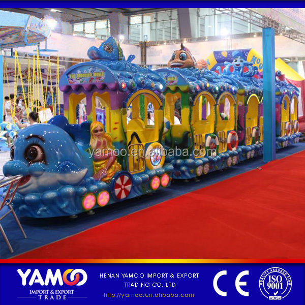 children amusement park train equipment ocean electric tourist train for sale
