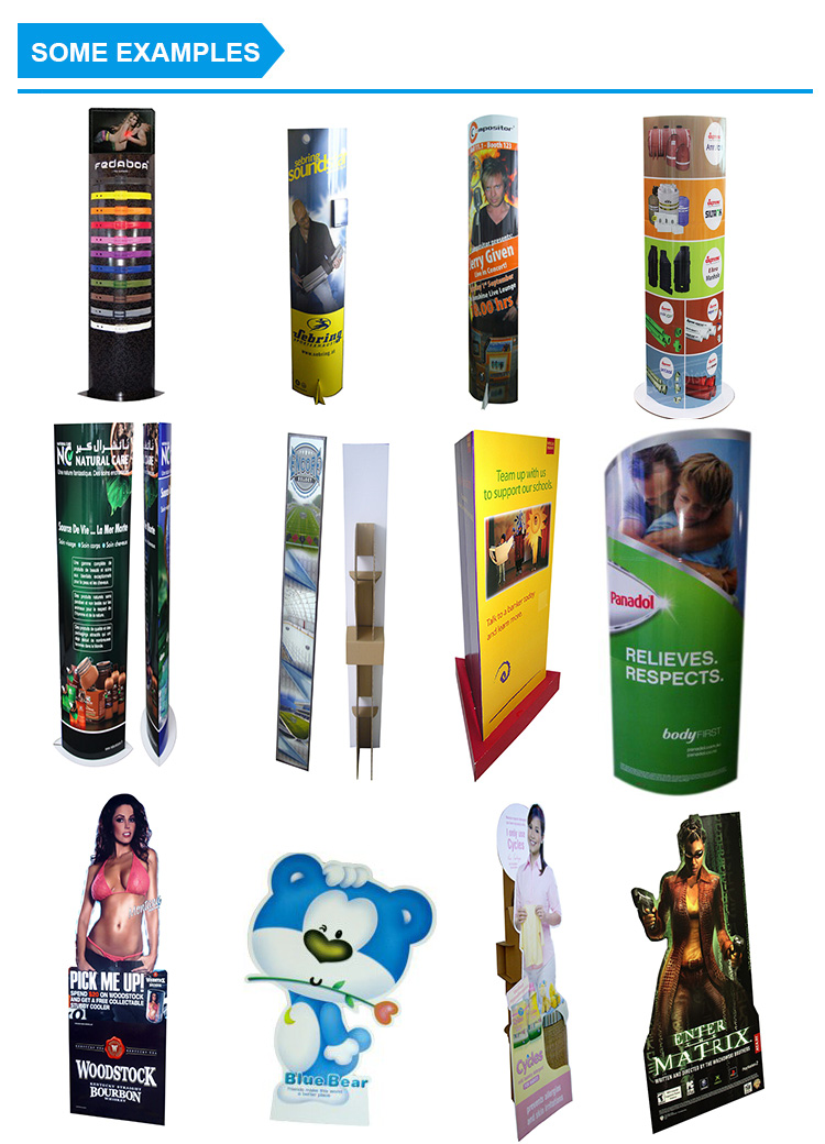 promotional  custom cardboard cutout life size human shape die cut advertising corrugated paper standee