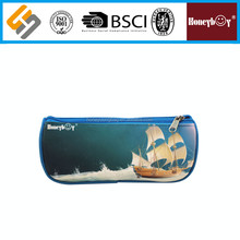 Sailin ship pattern Fancy polyester cute multifunction pencil case