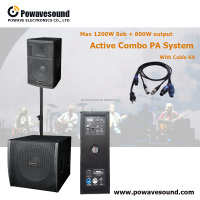 L1 powavesound Active combo PA speaker system Subwoofer + speaker home theater sound system