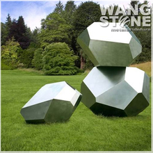 Garden Art Large Stainless Steel Outdoor Stone Sculpture