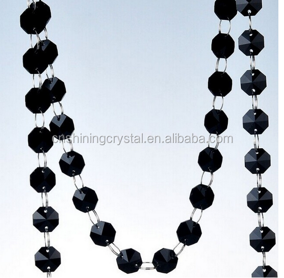 crystal garland strands octagon beads