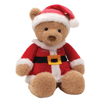 Funny Plush Teddy Santa Christmas Toys in Clothes