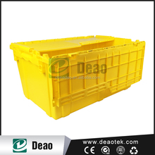 plastic glass crates/plastic crates with lid