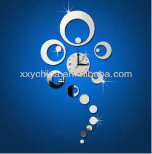 Morden acrylic decorative clock promotional gift plastic wall clock