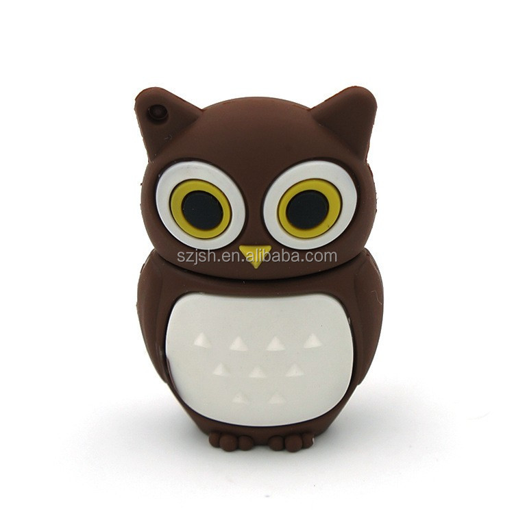 PVC Cheap bulk owl Shape usb 2.0 memory stick