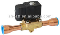 Hot gas solenoid valve for r410a