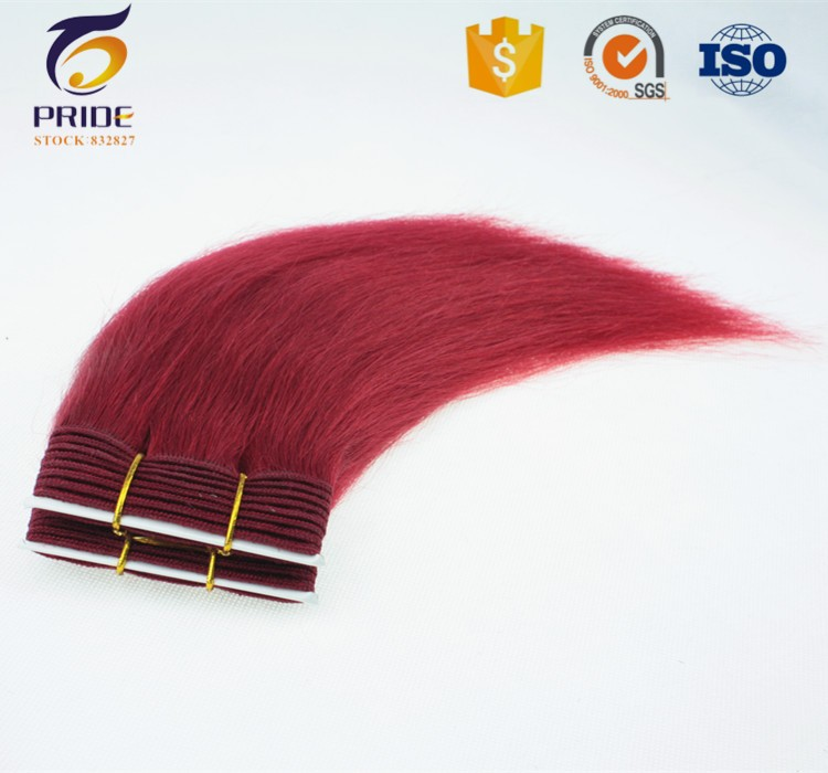 100% Human Hair Wholesale Virgin Unprocessed Red color Peruvian Straight Hair