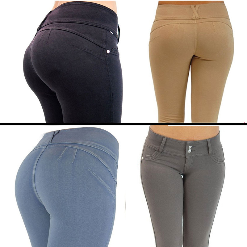 C89650A european women tight feet pants hot sale ladies pant