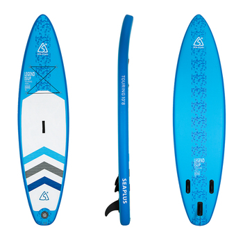 Fissot 10'6 inflatable SUP stand up paddle board with dual action pump