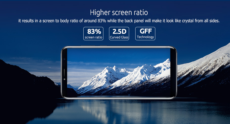 Original Cubot X18 MTK6737T Quad Core 3GB RAM 32GB ROM 5.7 inch 18:9 HD 1440*720 Android 7.0 Camera 16MP Fingerprint Cell Phone