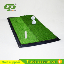 Custom portable artificial mini hitting golf swing mat for golf