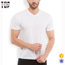 Blank dri fit T-shirt v neck short sleeve white muscle t-shirt