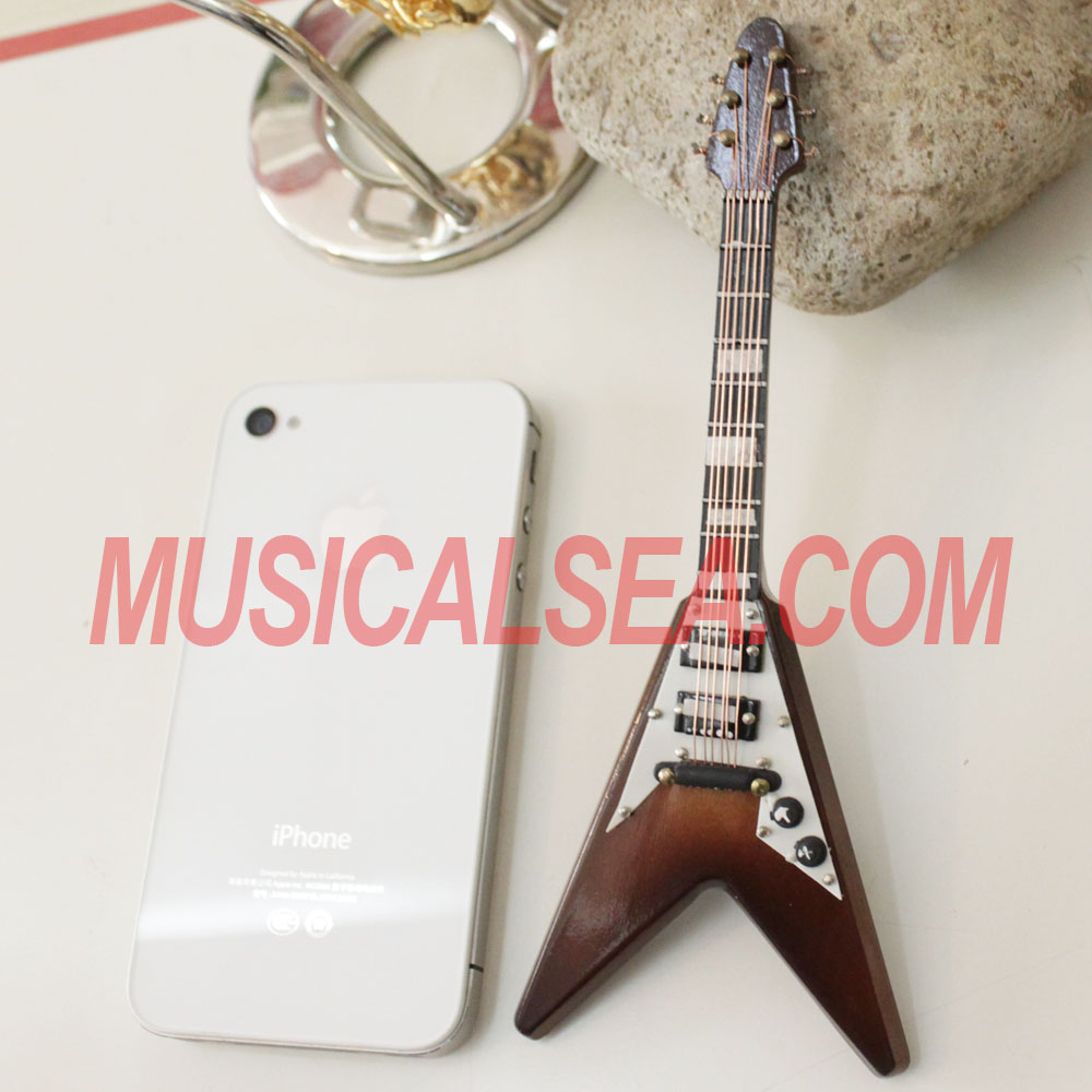 Mini guitar/ miniature electric guitar toy/ 2013 guitar themed gift for wooden handmade crafts
