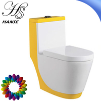 HS-1555D siphonic spray one piece ceramic bathroom wc toilet size