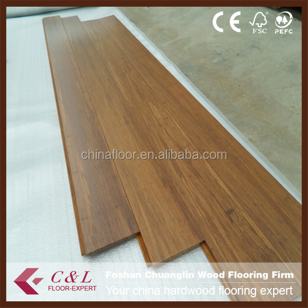 Guangzhou prefinished carbonzied stranded bamboo flooring