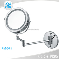 Jiangmen extendable wall mounted light makeup mirror