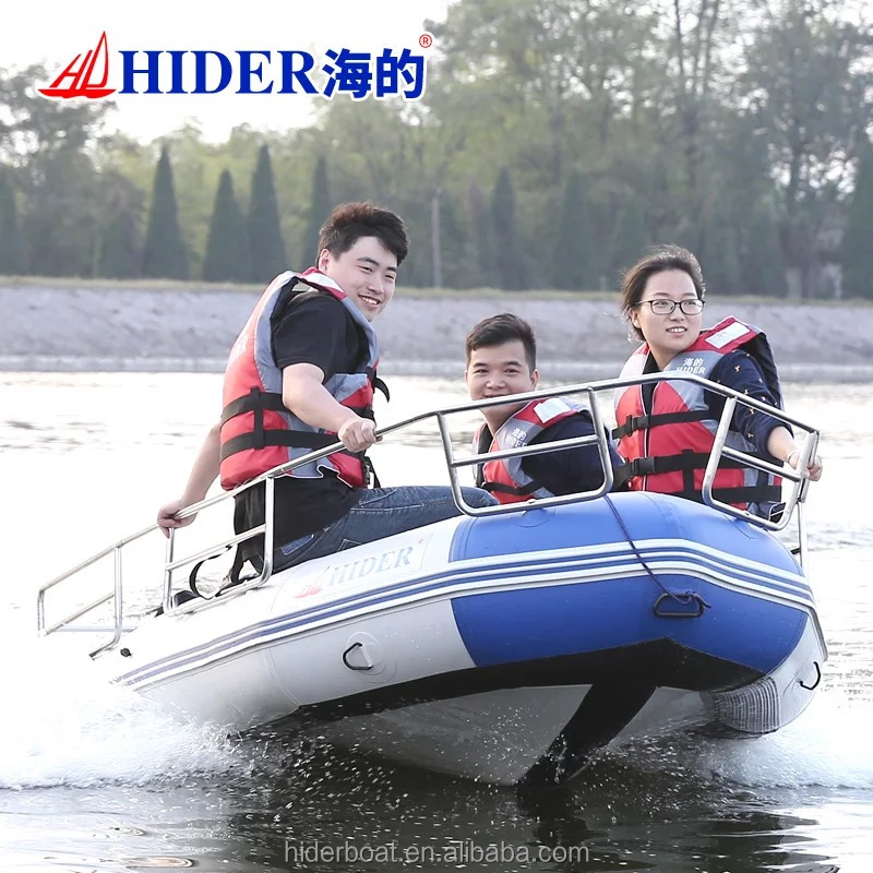 China New Design Pontoon Boat with Stainless Steel Guard Bar, Inflatable Rubber Boat/Cheap Inflatable Boat