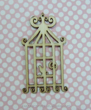 wooden bird cage shapes veneer wholesale hobby crafts for DIY and scrapbook