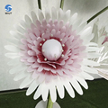 Hot sale fashion wall decorations white color cheap giant paper flowers for wedding walls