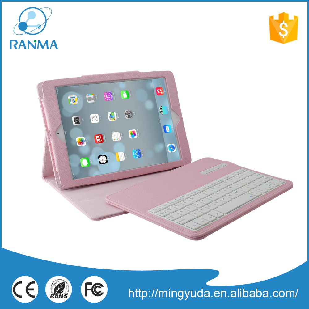 Colourful bluetooth 9.7 inch tablet case with keyboard case