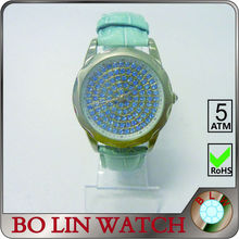 ladies watch/stainless steel case/japan movement/diamonds/IPS/3 ATM/mother of pearl face, lady brand crystal watch
