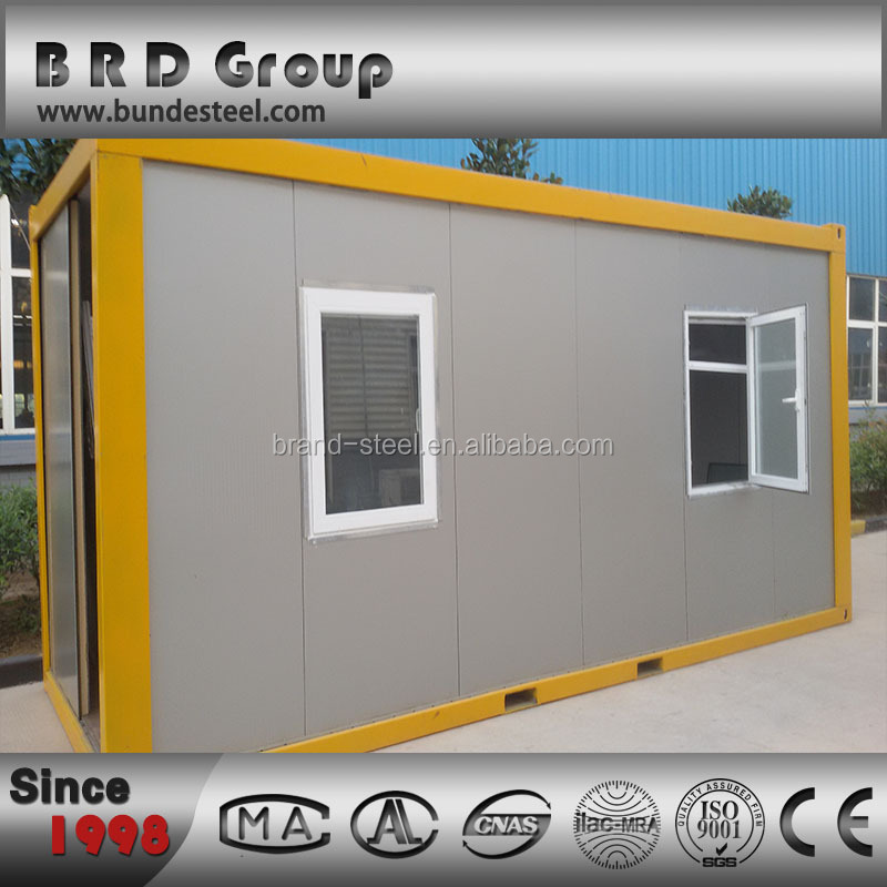 PU sandwich panel container house with steel structure