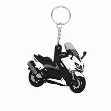 3D Promotional custom logo soft pvc motorcycle keychain