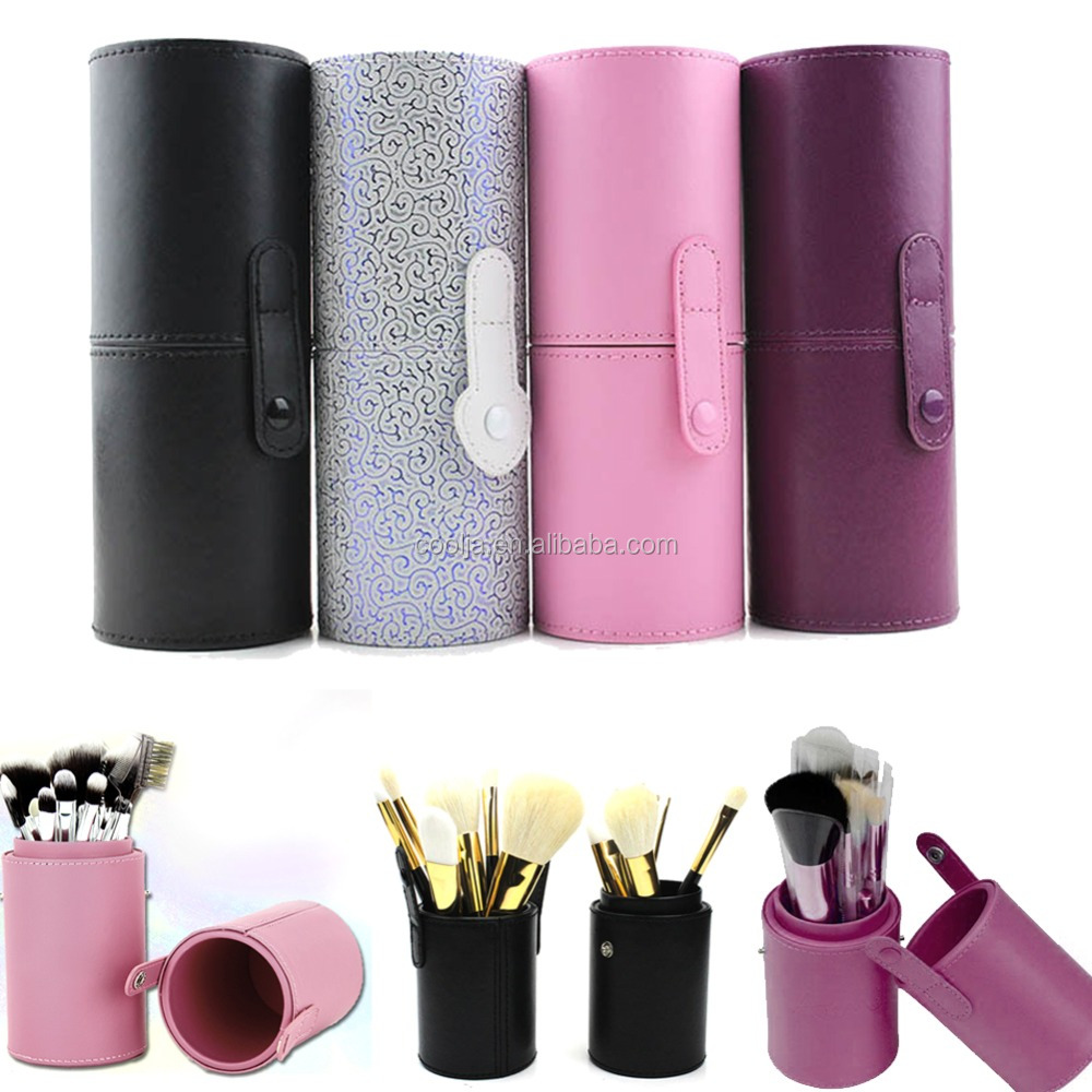 12Pcs Useful PU Leather Travel Cosmetic Brush Pen Holder Storage Empty Holder Makeup Bag Brushes Organizer Make Up Tool Holder