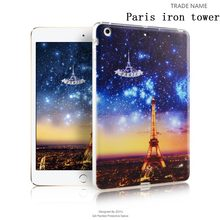 2017 watercolor flower color print silicon rubber tablet cover/case For ipad mini 123 8""