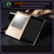 PU Black Magnetic wallet Leather Case for Huawei Ascend G7 leather flip case for huawei g700