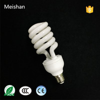 China CFL factory direct sell 24w half spiral cfl energy saving bulb