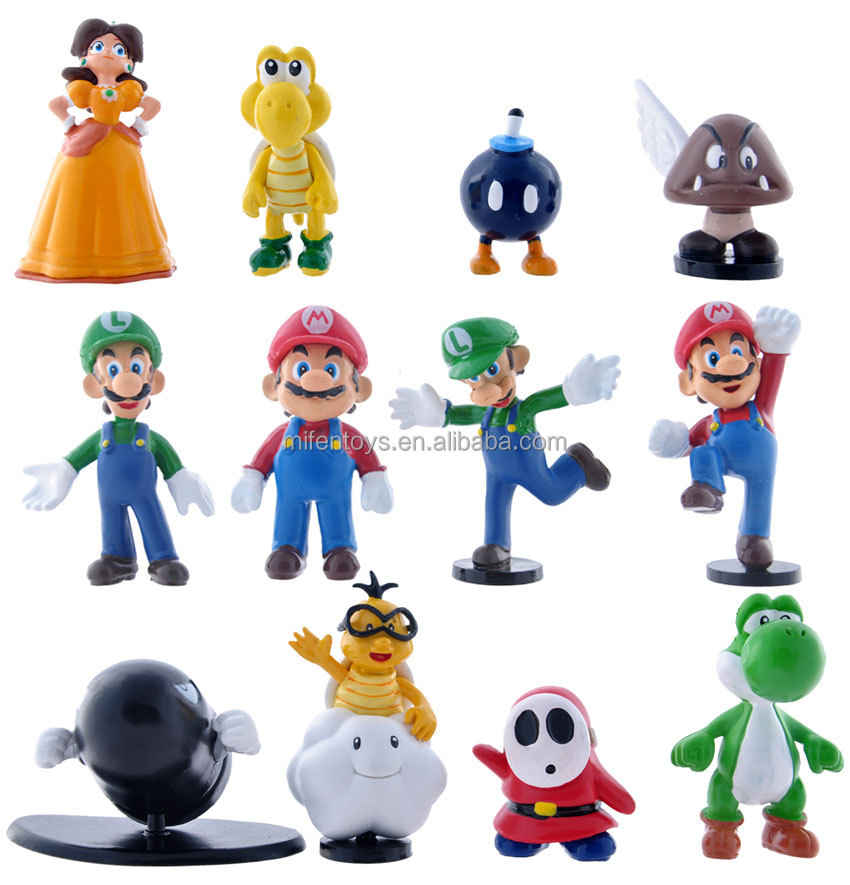 12pcs/set nintendo super mario bros 2 games toys action figure dolls wholesale