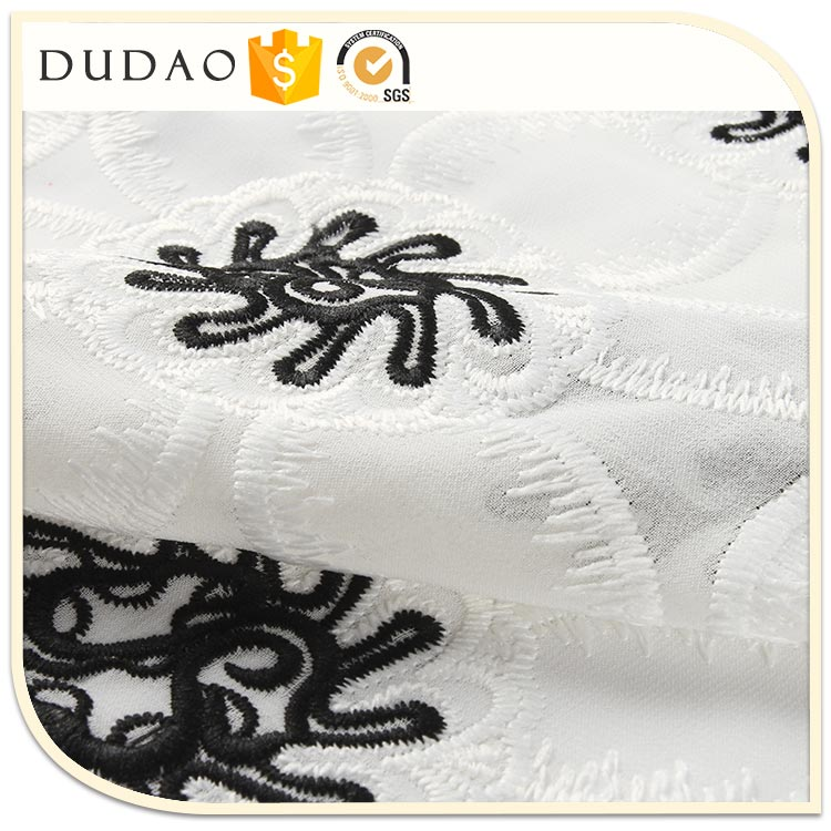 Low Price For Garment net embroidery fabric design