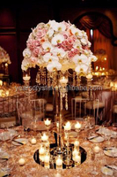 80cm clear elegant crystal wedding flower table top candelabra
