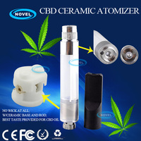 wholesale 510 ceramic cartomizer / atomizer With Ceramic Base and Ceramic Rod. No wick. Purest taste